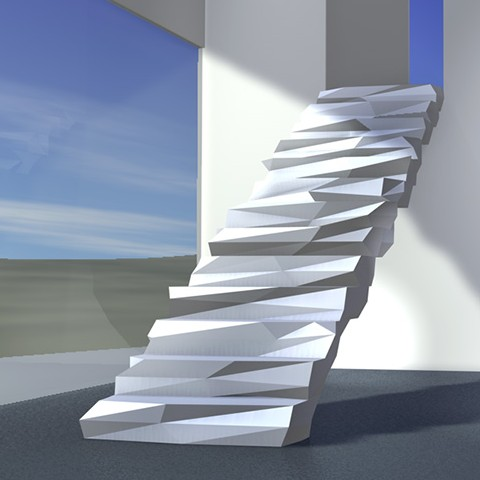 Facetted stairs